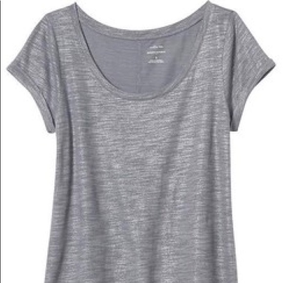 choose newest reasonably priced quality Banana Republic Factory Malibu Scoop Neck Foil Tee